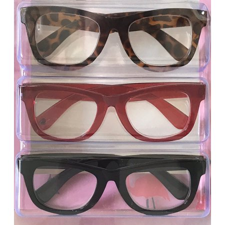 0e6a8f7a28 Betsey Johnson Red Animal Print Reading Glasses 3 Pack Readers (+1.50  Strength) - Walmart.com