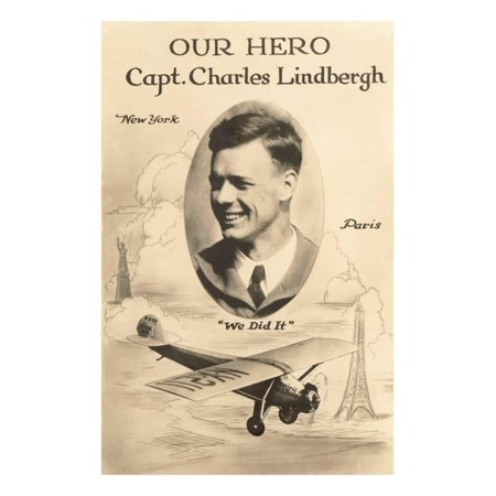 Our Hero Charles Lindbergh Print Wall Art