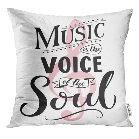 CMFUN Music is The Voice of Soul Inspirational Quote Vintage Style Saying on White Dancing School Wall Pillow Case 20x20 Inches Pillowcase](Vintage Halloween Sayings)