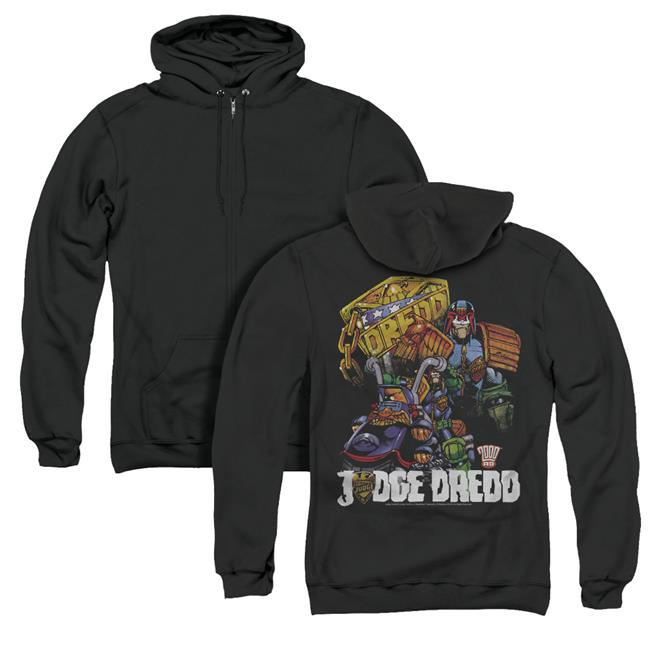 Judge Dredd Bike And Badge Adult Crewneck Sweatshirt