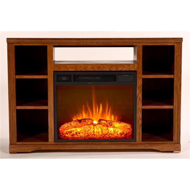 Eagle Furniture FP933248UN 48 in. Oak Ridge Electric Fireplace TV Console, Unfinished