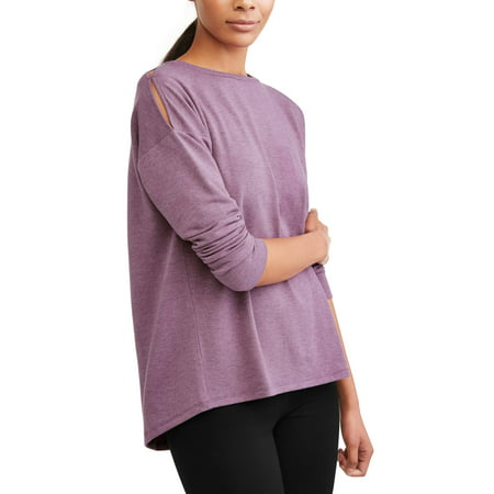 Women's Athleisure French Terry Split Back (Embroidered Terry Sweatshirt)