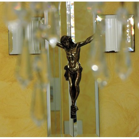 LAMINATED POSTER Jesus Glass Crystals Crucifix Mirror Poster Print 11 x 17