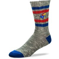 Kansas Jayhawks For Bare Feet Women's Alpine Tweed Crew Socks - M
