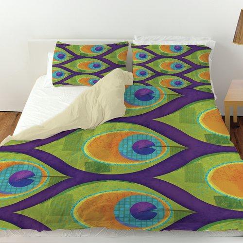 Manual Woodworkers & Weavers Peacock Pattern Duvet Cover