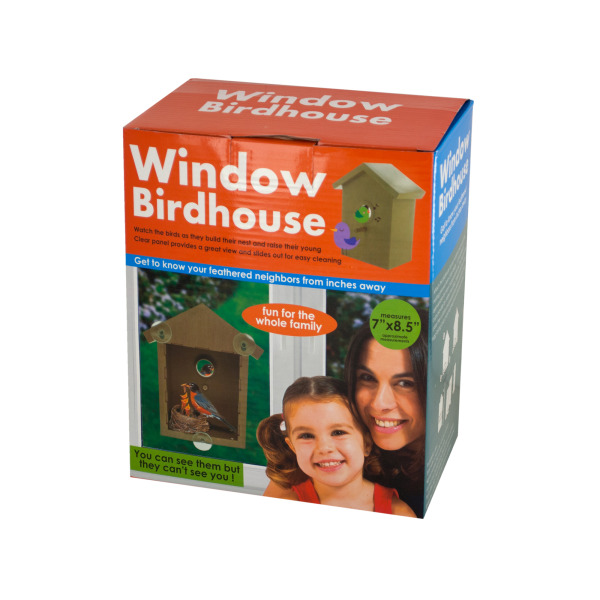 Window Birdhouse With Clear Panel &Amp; Suction Cups (Pack Of 1) by Bulk Buys