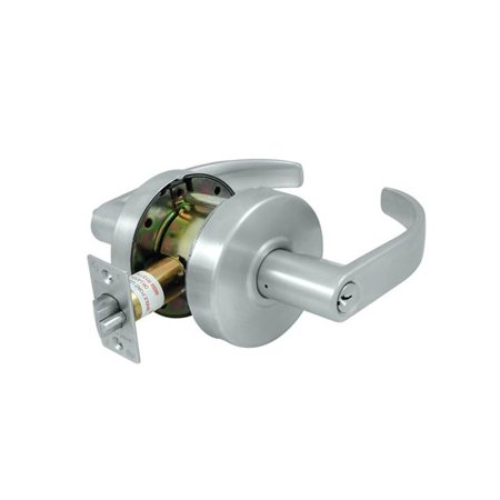 Commercial Lock (Grade 2 Curved Commercial Standard Store Room Lock w Cylinder (Brushed Chrome) )