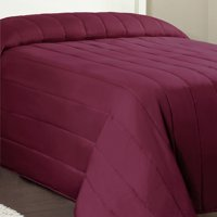 Mainstays Channel Twin Solid Quilted Bedspread