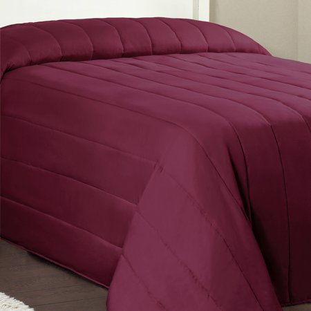Mainstays Channel Twin Solid Quilted Bedspread, 1 - Twin Quilted Organic Wool