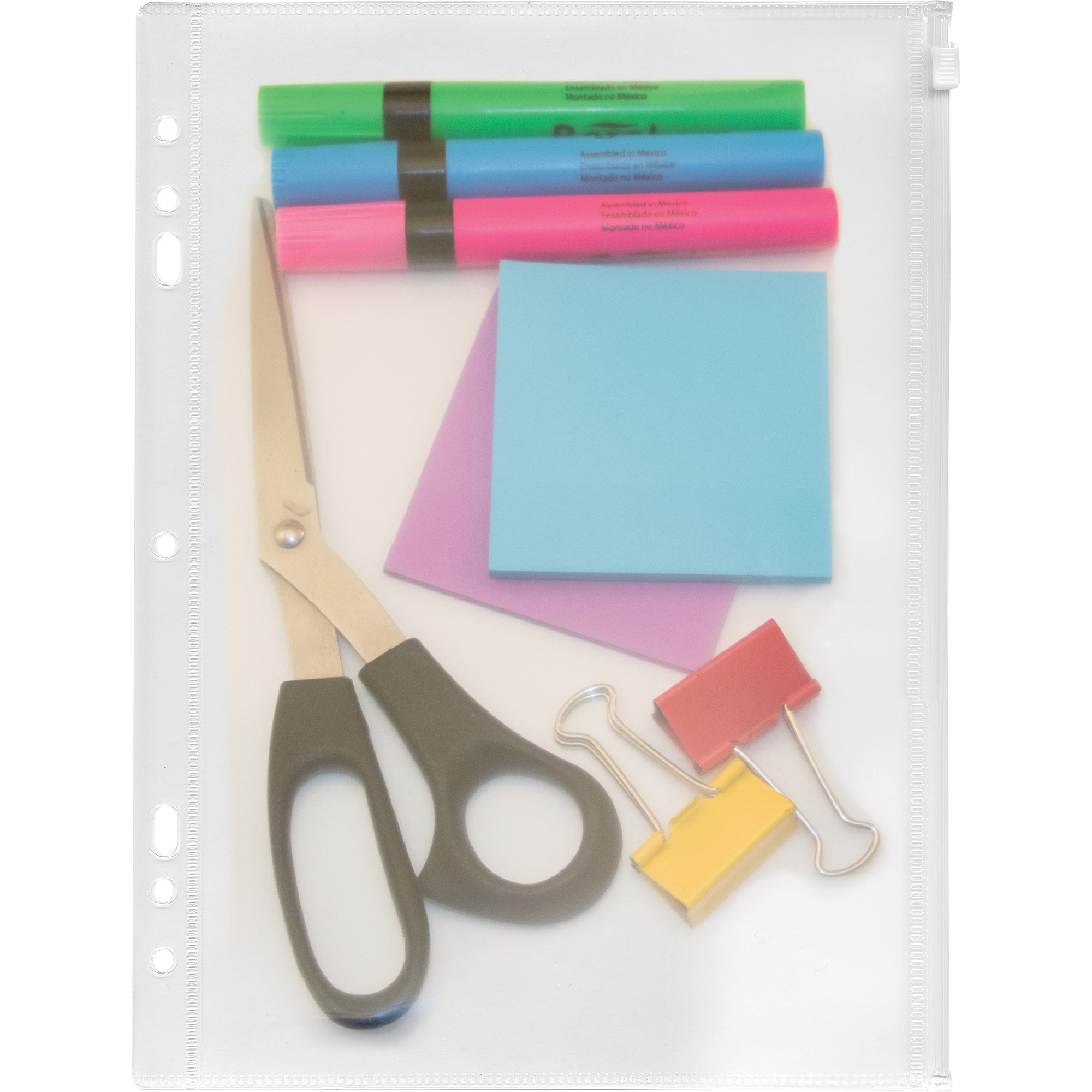 "Angler's Zip-All Ring Binder Pocket, 8-1/2"" x 11"", Clear"