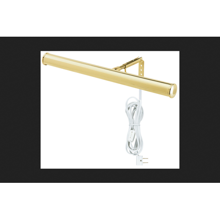 - Westinghouse Picture Light T6 14 in. Polished Brass Clamshell