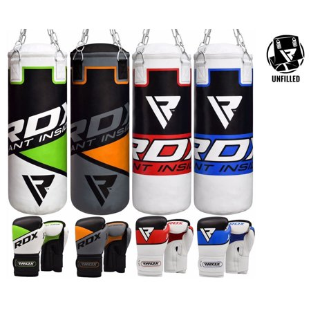 RDX Kids Punching Bag Youth Punch Boxing Mitts Junior Gloves Unfilled Blue Red Green Orange Color