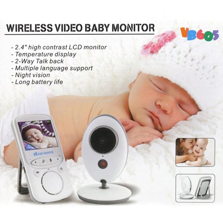 video baby infant monitor wireless digital camera with night vision two way talk long range bye. Black Bedroom Furniture Sets. Home Design Ideas