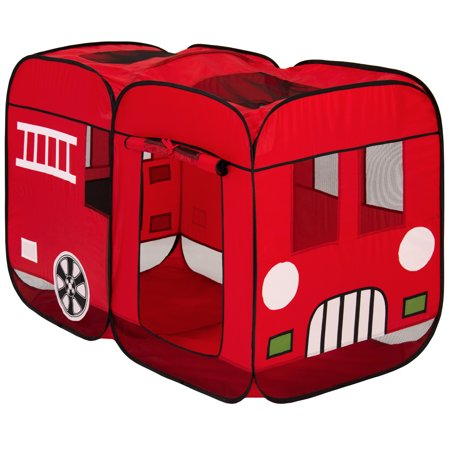 premium selection 14659 2a0f2 Best Choice Products Kids Pop-Up Fire Truck Play Tent Indoor/Outdoor W/  Carrying Case