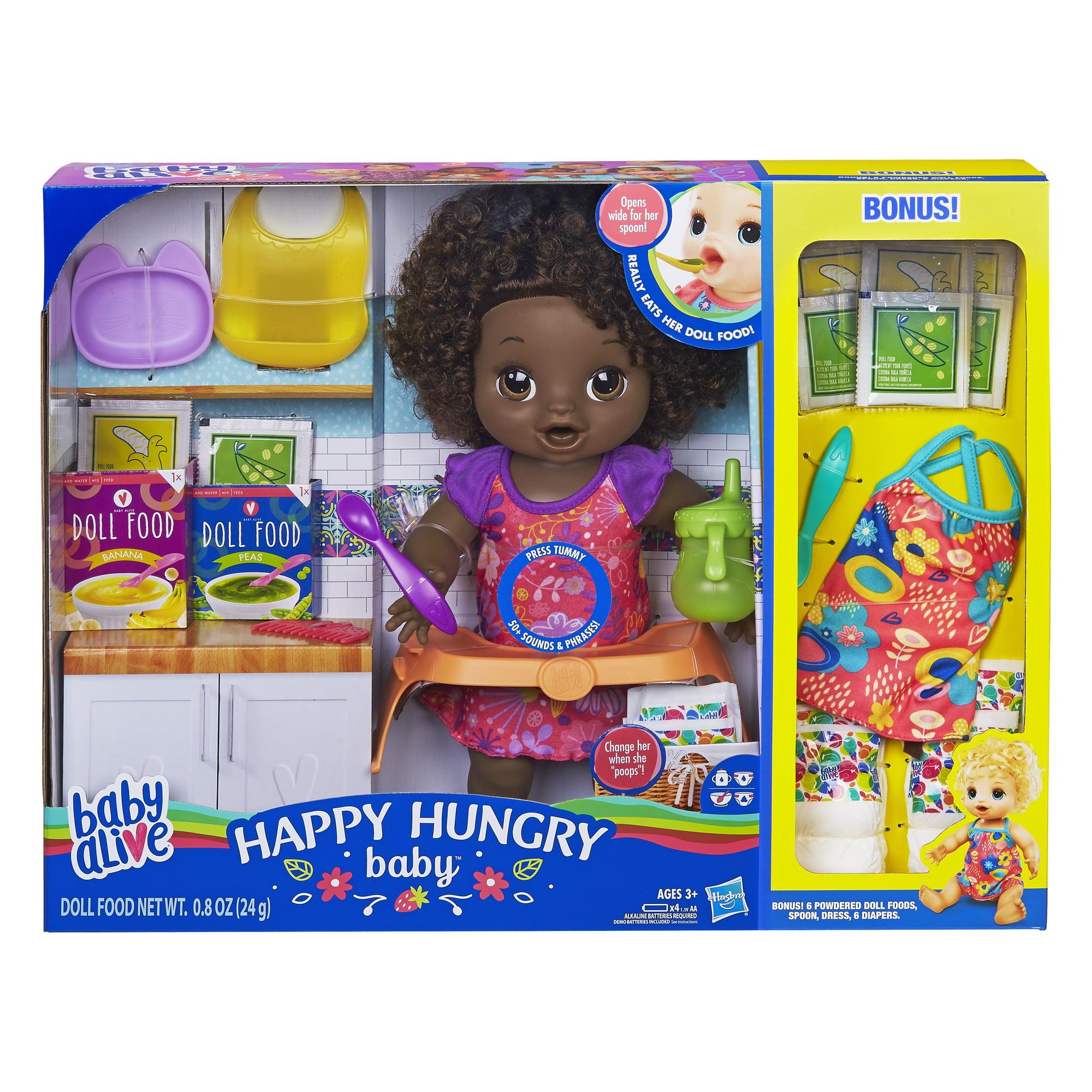 Baby Alive Happy Hungry Baby Blonde Doll Walmart Exclusive Bonus Pack Walmart Com Walmart Com