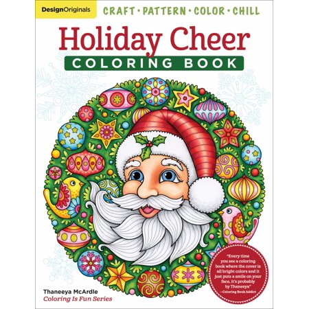 Holiday Cheer Coloring Book : Craft, Pattern, Color, -