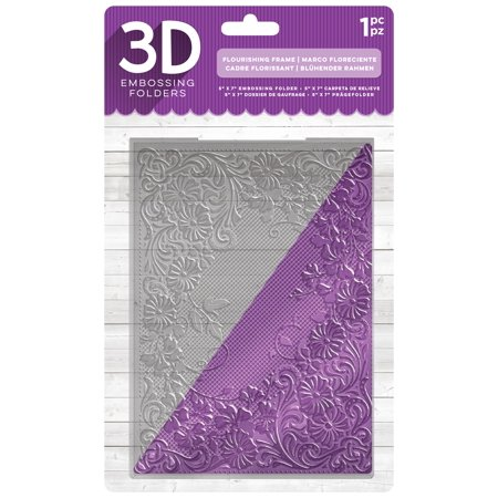 "Crafter's Companion 3D Embossing Folder 5""X7""-Flourishing Frame - image 1 of 1"