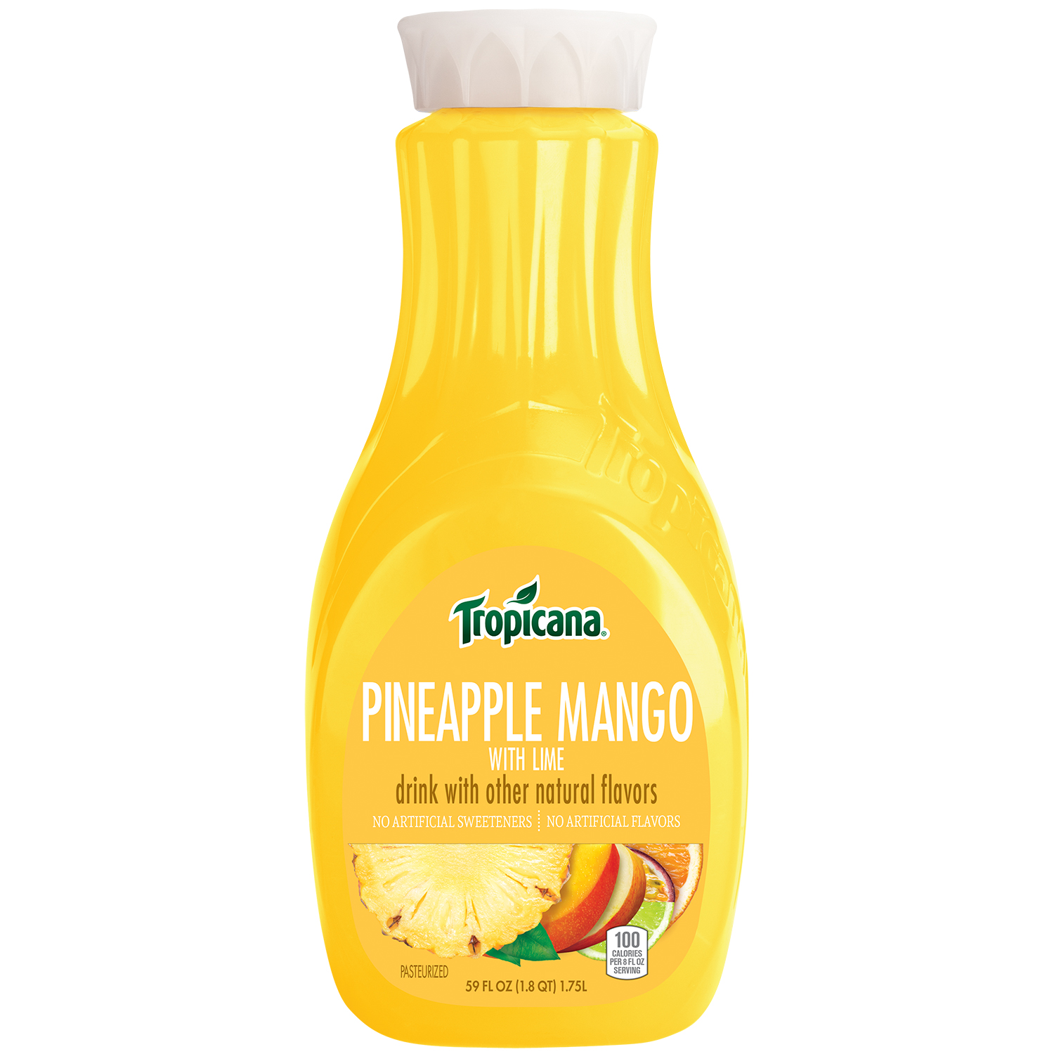 Tropicana Pineapple Mango with Lime Juice 59 fl. oz. Bottle ...
