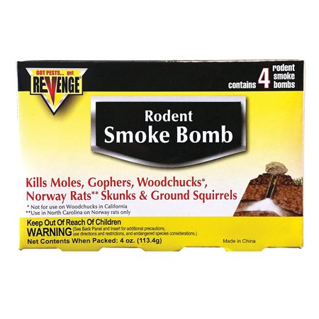 Norway Rat (Revenge Smoke Bombs, Effective on gophers, moles, woodchucks, Norway rats, skunks and ground squirrels By Bonide)