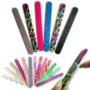 6 Double Sided Nail File Emery Board Manicure Pedicure Gift Set Design Lot New