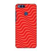 Huawei Honor 7X Case, Premium Handcrafted Printed Designer Hard Snap on Shell Case Back Cover with Screen Cleaning Kit for Huawei Honor 7X - Carbon Fibre Redux Candy Red 10