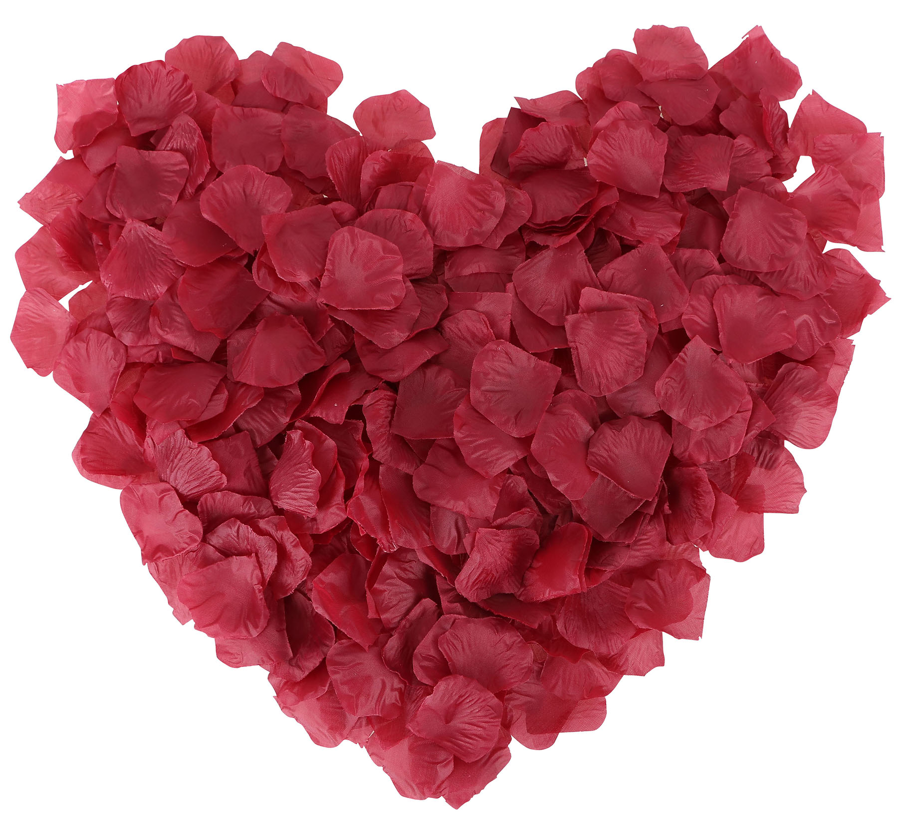 Pack of 1000 Pcs Artificial Flower Petals for Wedding Decoration, Dark Burgundy