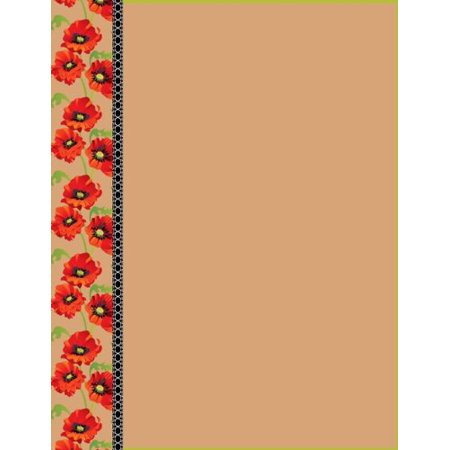 Poppy Kraft Design Paper, 8.5 x 11 Inches, Design, 25-Sheet Pack (48453), 8.5x11 By Geographics](Halloween Design Paper)