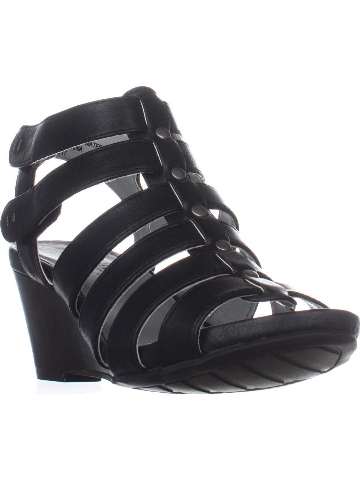 Womens Cliffs by White Mountain Vivaldi Gladiator Wedges, Black