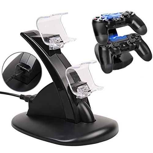 USB Dual Charger Charging Docking Station Stand for Sony Playstation 4 PS4 Controller