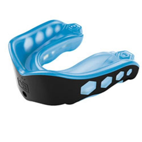 Shock Doctor Convertible Mouth Guard - Gel Max - Adult Size, Smoke/Black