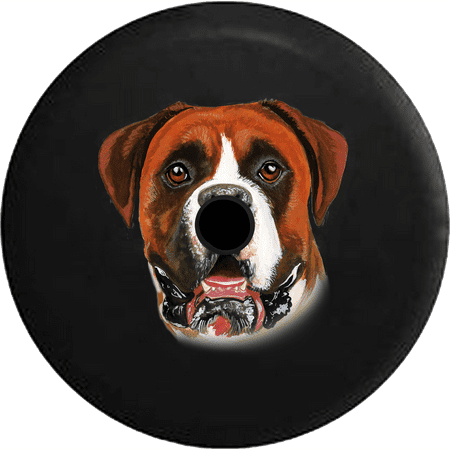 2018 2019 Wrangler JL Backup Camera Boxer Dog Lover Adopt Rescue Spare Tire Cover for Jeep RV 32