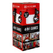 Wicked Big Sports 4 in 1 Indoor/Outdoor Game Set with 12 Pong Cups, 2 Pong Balls and 2 Plastic Quarters