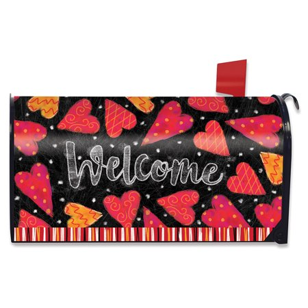 Valentine Magnetic Mailbox Cover Hearts Valentine's Day Standard Briarwood Lane for $<!---->
