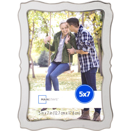 Mainstays Pewter Shaped 5x7 Picture Frame by