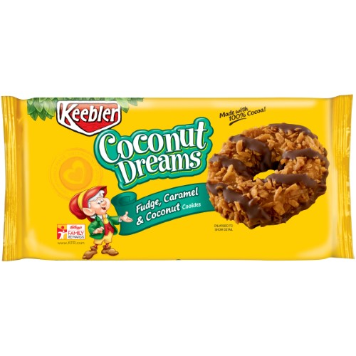 Keebler, Coconut Dreams, Fudge, Caramel & Coconut Cookies (Pack of 2)