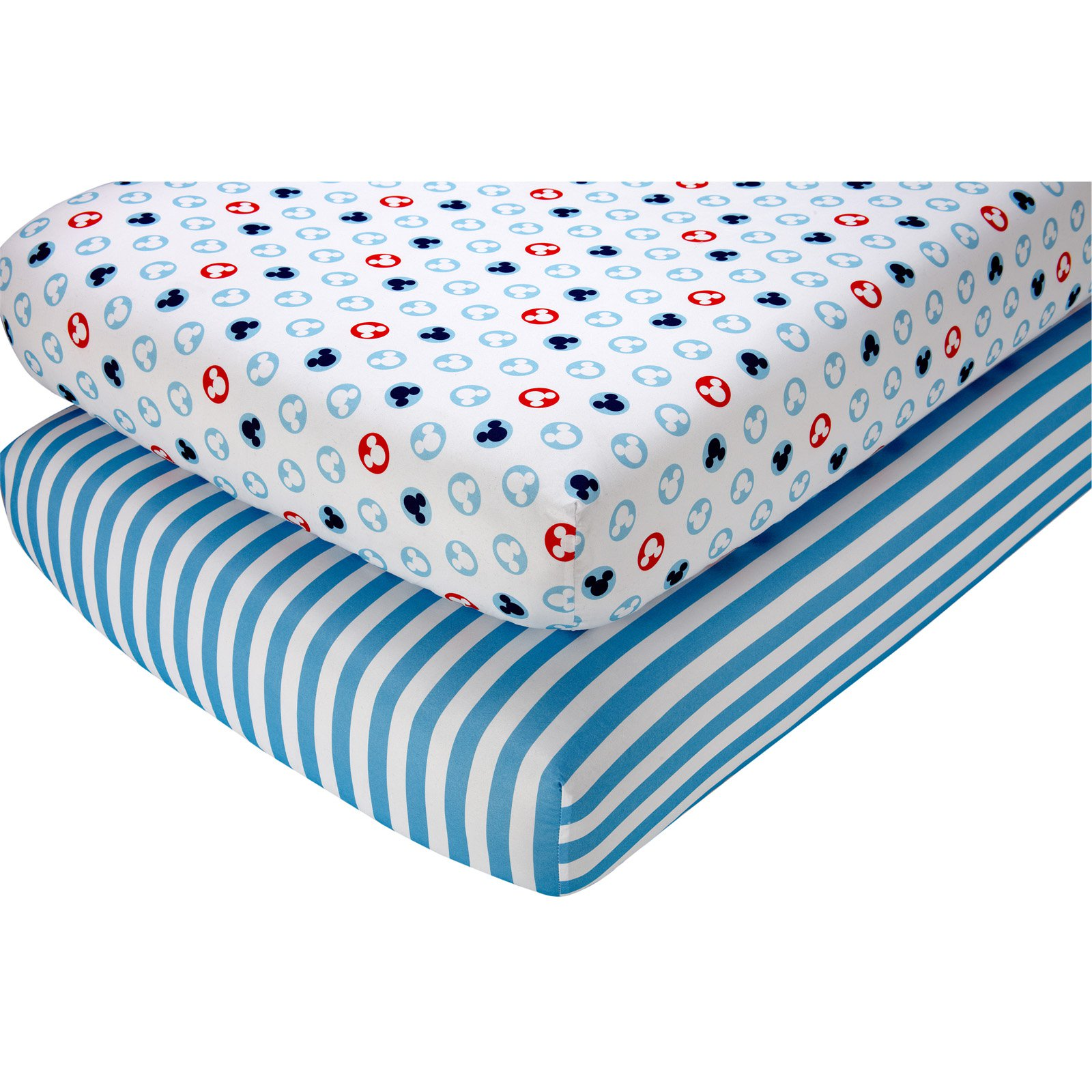 Disney Baby Mickey Mouse Fitted Crib Sheets (Set of 2)