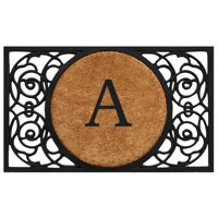 "Calloway Mills Armada Circle Monogram Outdoor Doormat 22"" x 36"" (Letter A)"