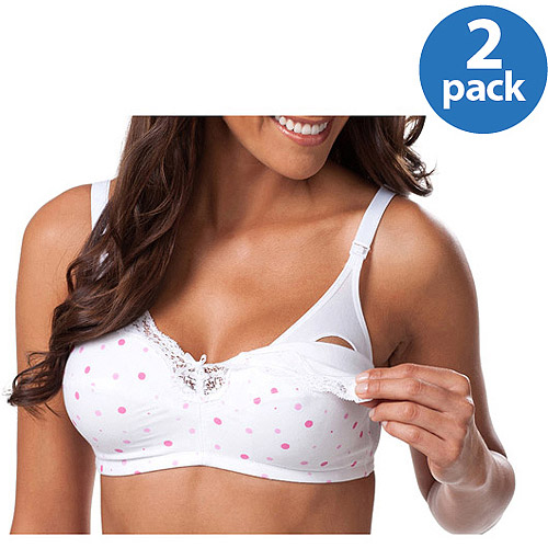 Maternity Wirefree Softcup Nursing Bra with Full Sling, 2-Pack