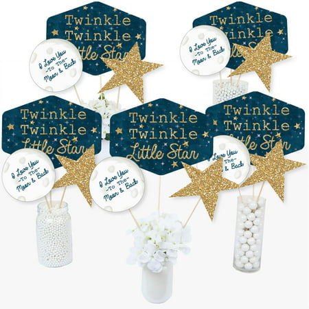 Twinkle Twinkle Little Star - Baby Shower or Birthday Party Centerpiece Sticks - Table Toppers - Set of 15 - Quinceanera Centerpieces For Tables