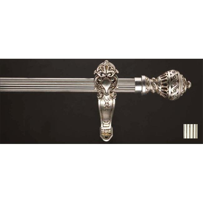 WinarT  Palas 1181 Curtain Rod Set - 1.75 in. - Antique Pearl White - 63 in. - image 1 of 1