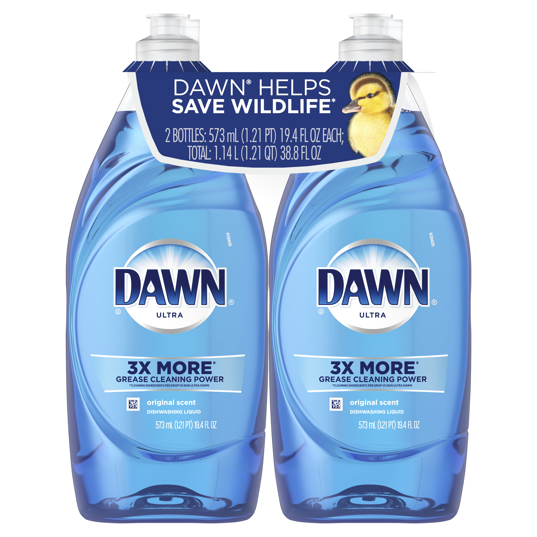 (2 pack) Dawn Ultra Dishwashing Liquid Dish Soap Original Scent, 19.4 fl oz