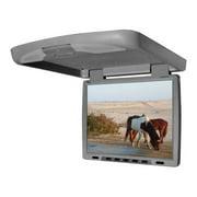 "Tview T144DVFDGR 14"" Flip Down Monitor with built in DVD IR/FM trans Gray"