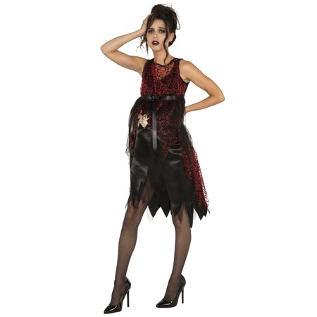 It'S Time Adult Women Scary Gothic Pregnant Halloween Costume-Std (Scary Halloween Party Names)