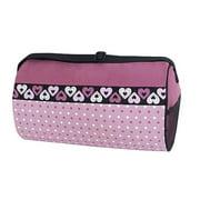 Sassi Design Girls Pink Black Dots Hearts Medium Dance Blank Duffel
