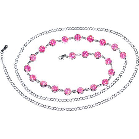 Pink Glamour and Glitz Adjustable Belly Chain