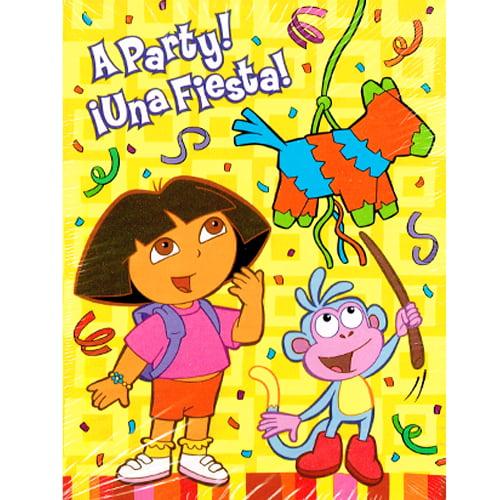Dora the Explorer 'Fiesta' Invitations w  Env (8ct) by