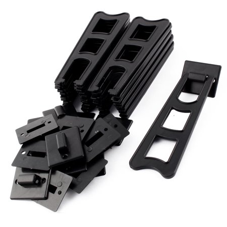 Home Plastic Trapezoid Shaped Display Holder Photo Frame Stands Black 20 Sets