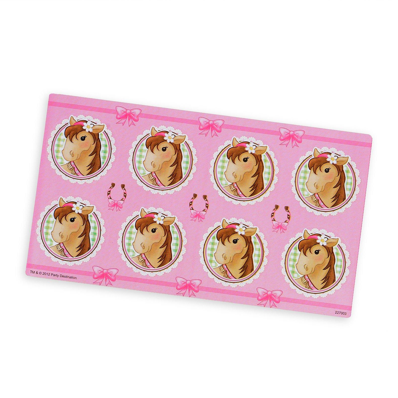 Pink Cowgirl Small Lollipop Sticker Sheet