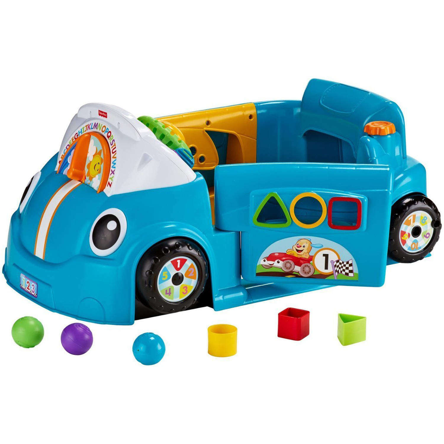 Fisher Price Laugh & Learn Smart Stages Crawl Around Car, Blue by LAUGH %26 LEARN