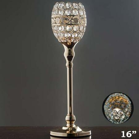 Efavormart 2PCS Crystal Candle Holder Goblet Votive Tealight Wedding Chandelier Dining Room Coffee Table Decorative Centerpiece ()